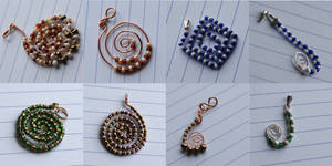 Swirl collection: pendants by Margotka