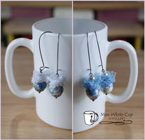 earrings: China blue lace buff by Margotka