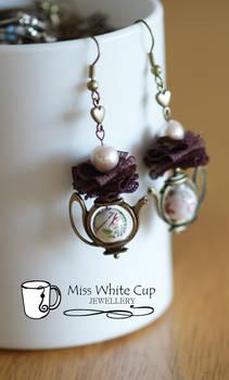 earrings: tea is served III