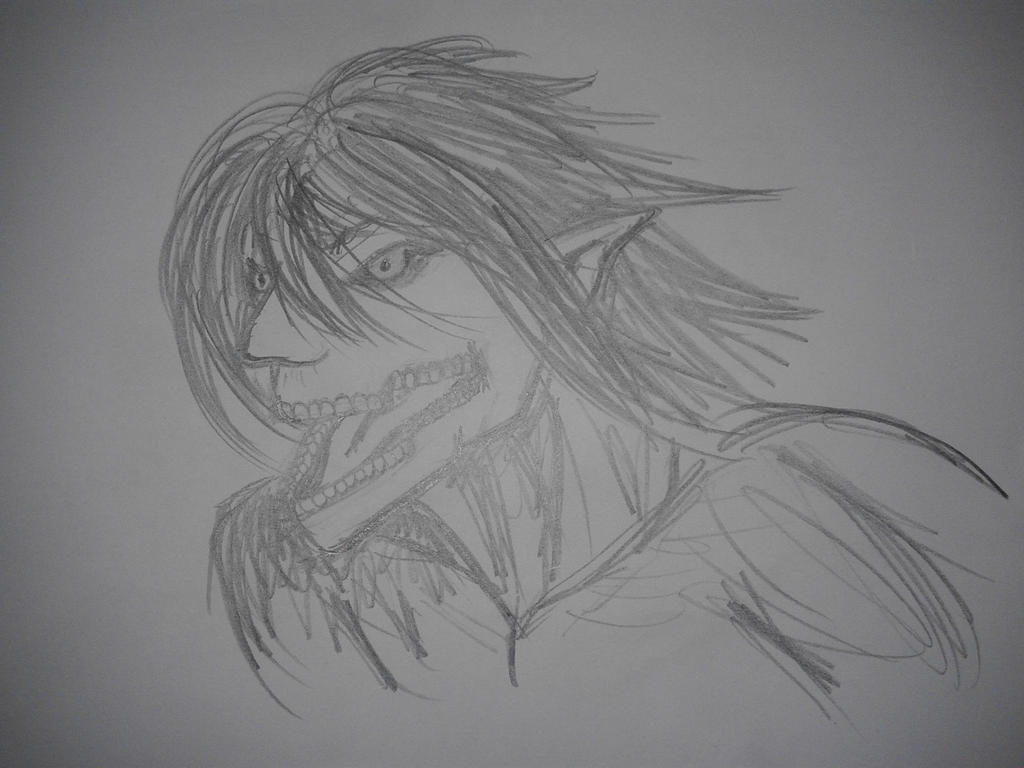 Eren titan form sketch by SCarpy01