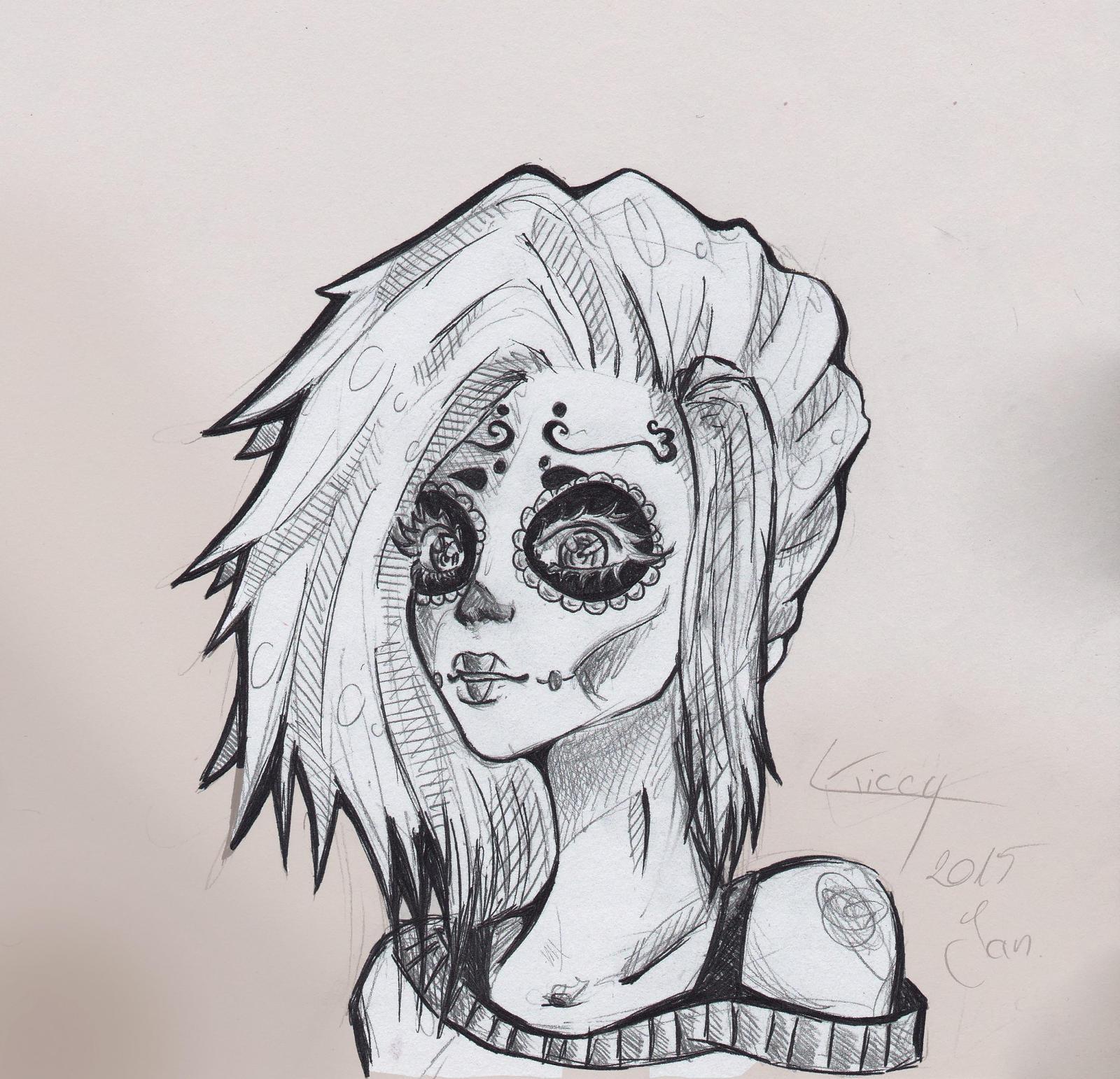 Sugar Skull Rose Tattoo Designs