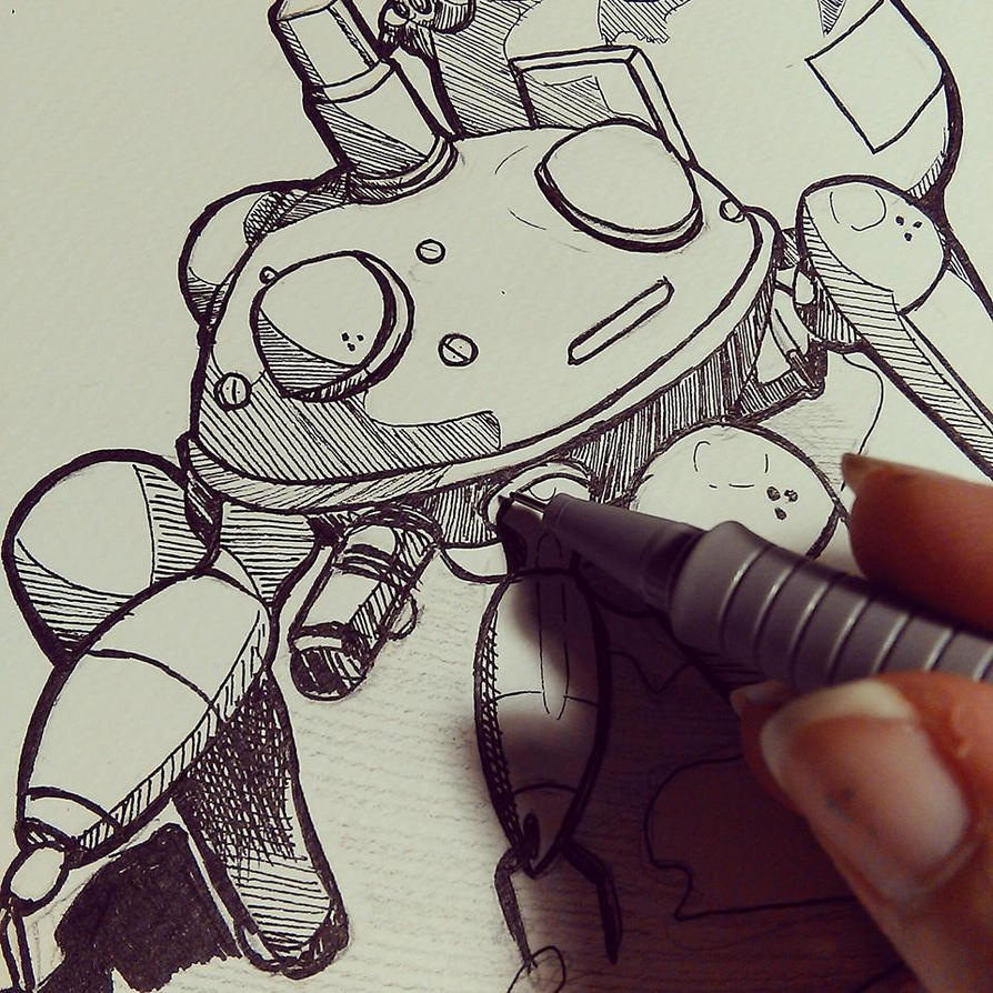 Tachikoma Sketch by Kiccyke
