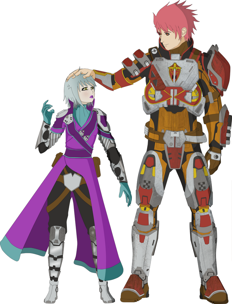 Space Pirate Emma C. and Bounty Hunter Zack D. by Nasby321