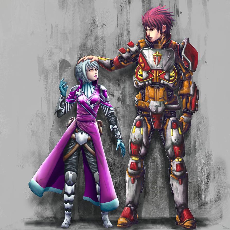 Warlock: Emma and Titan: Zack by Nasby321