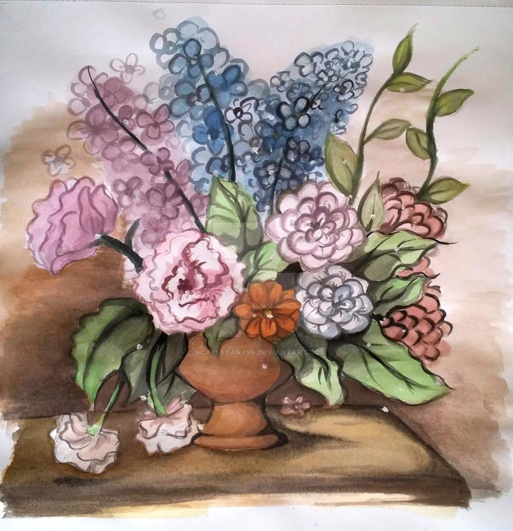 Flowers by scarletart99