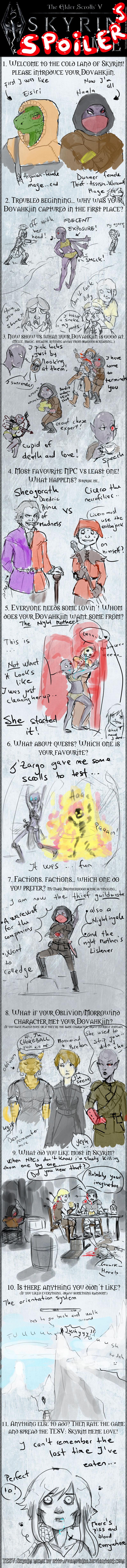 Skyrim Meme SPOILERS by Yume-thing