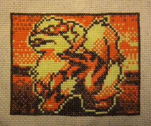 Arcanine Cross Stitch by silverdragoness