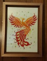 Phoenix cross stitch by silverdragoness