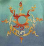 Tribal Sun Moon Cross Stitch