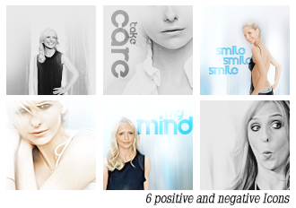 Positive and Negative  Icons by Lost-in-Arts