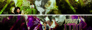 Cole Sprouse Banner Set by Lost-in-Arts