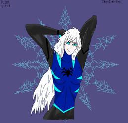 Frost-Spider: Stretching by RazorSwordNinja