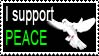 Stamp 08 - I support peace by FullWhiteMoon