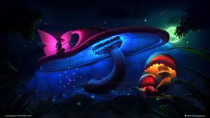 Glowing mushrooms #AW0003