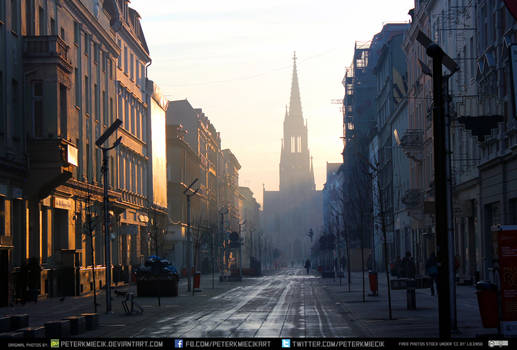 City street at dawn exterior #00023  CC Free Stock