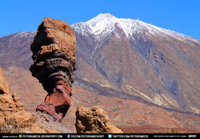 Volcano Rocks Red Mountains Snow CC Free Stock by PeterKmiecik