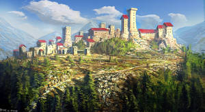 Old Hill Castle speed painting by PeterKmiecik