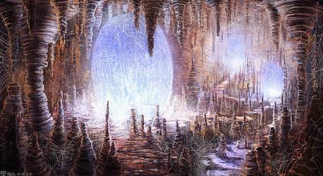 Spider eggs cave #speedpainting by PeterKmiecik