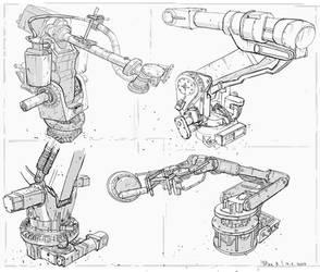 Production robots #sketch by PeterKmiecik