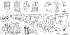 Egyptian architecutre #sketches