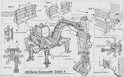 Walking Excavator #concept #design