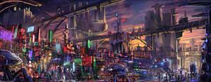 Scifi city #speedpaint