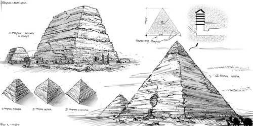 Pyramides #sketches by PeterKmiecik