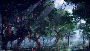 Wonderful orchard #digitalart