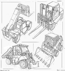 Forklifts #sketch