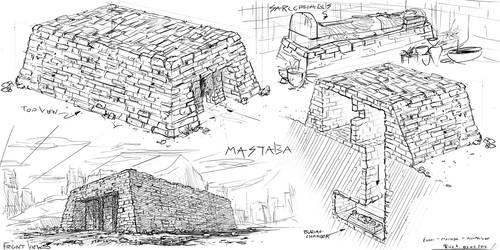 Egyptian Mastaba #sketch