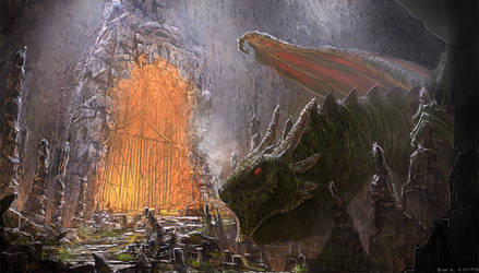 Dragon gate keeper #painting #old