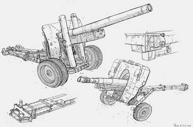 Modern Artillery cannons #sketch