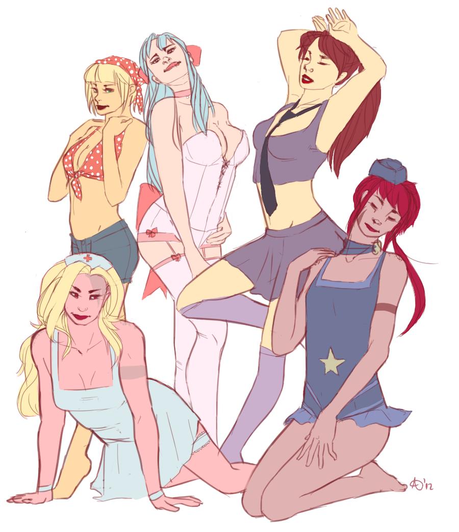 Golden Sun Girls by RandomPedestrian