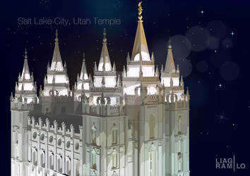 Salt Lake City, Utah Temple by liagiannjezreel