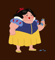 hungry princess - snow white by kaffepanna