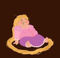 hungry princess - rapunzel by kaffepanna