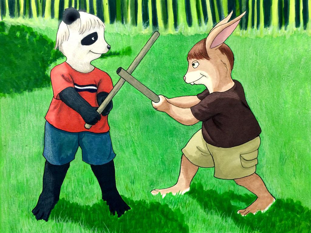 Swordfight by BigRedPharaoh