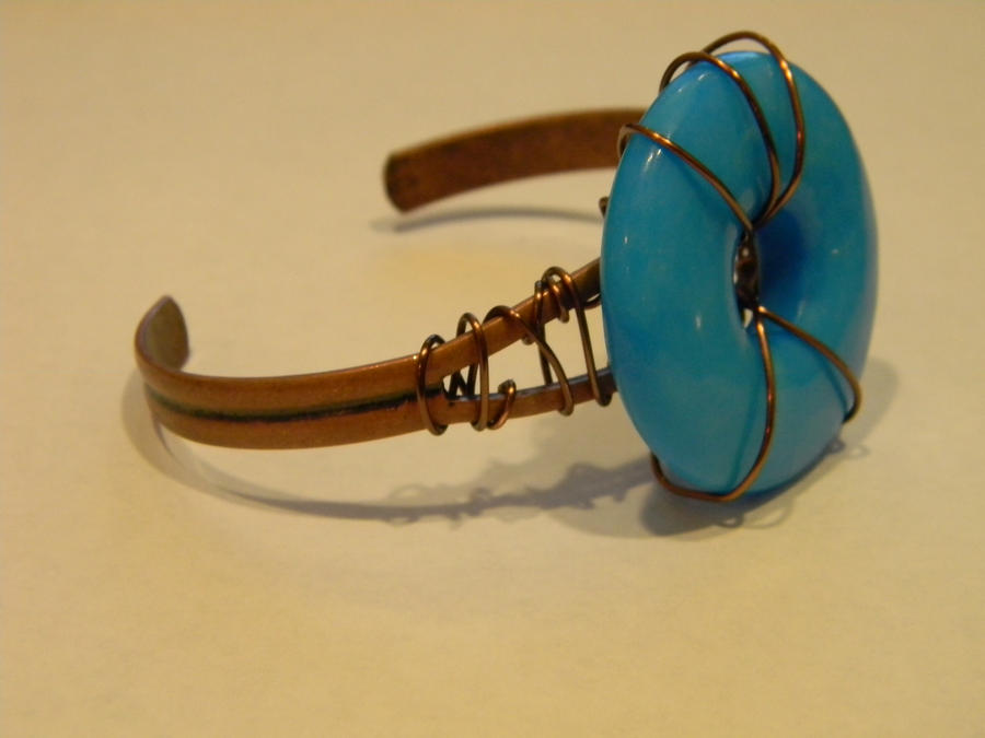 how to make a wire wrapped bracelet cuff