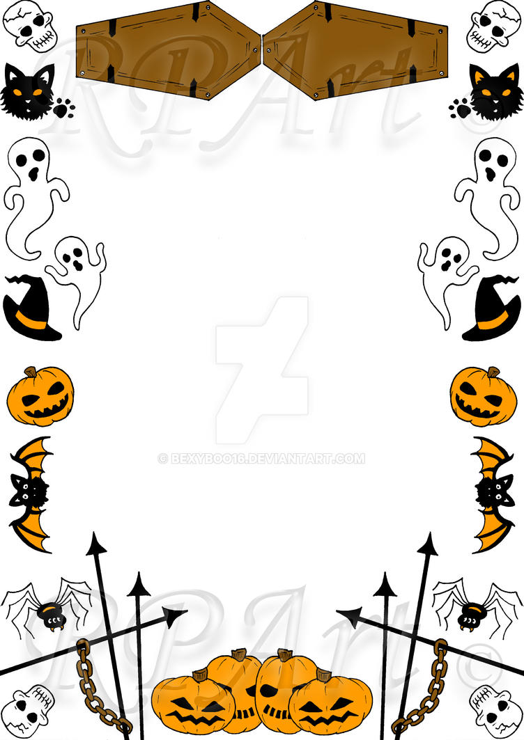 Halloween Border 1 Coloured by bexyboo16 on DeviantArt