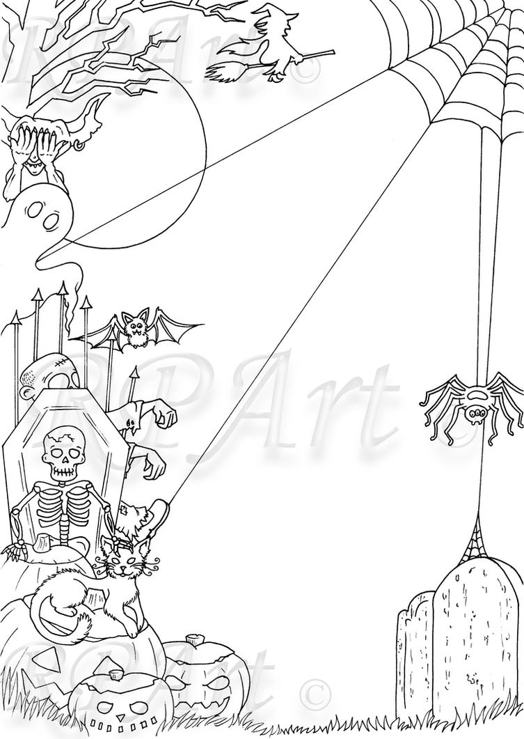 Line Art Halloween : Halloween border lineart by bexyboo on deviantart