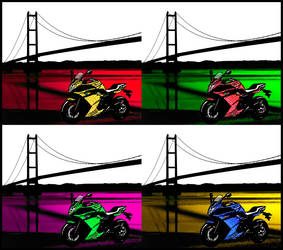 CB and Humber - Warhol Style