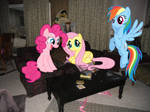 My Living Room with 3 Ponies