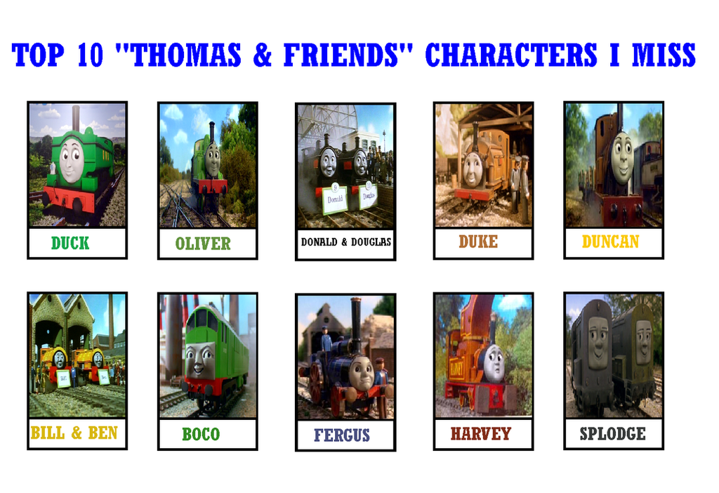 Thomas And Friends Characters List Thomas The Tank Engine