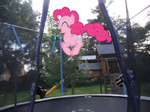 Pinkie's Jumping on my Trampoline