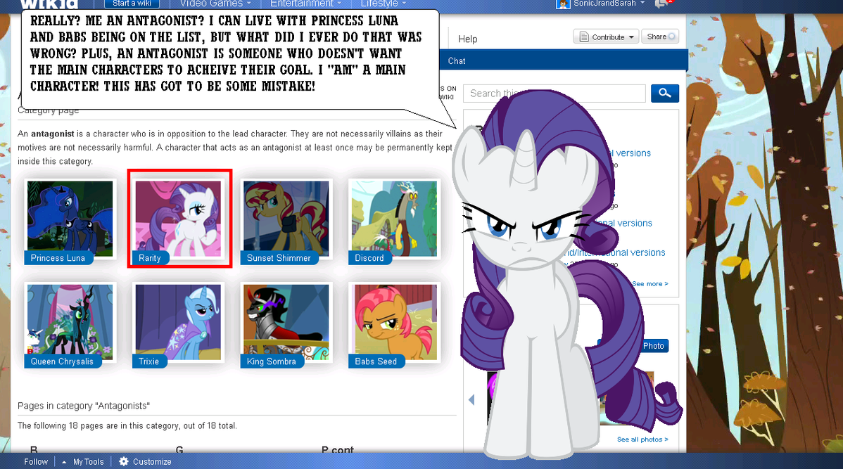 Rarity Speaks out to the MLP FiM wiki (My mistake) by Eli-J-Brony on ...