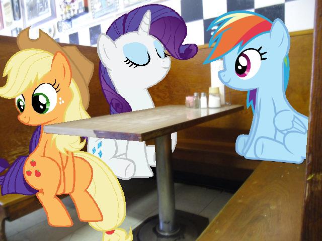 Ponies at a Diner