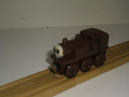 Custom Wooden Railway Train: Scrap Tank Engine by Eli-J-Brony