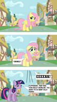 Fluttershy Reacts to Her Belly Growling