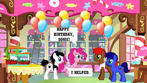 Happy Birthday Sonic the Hedgehog (Pony Style)