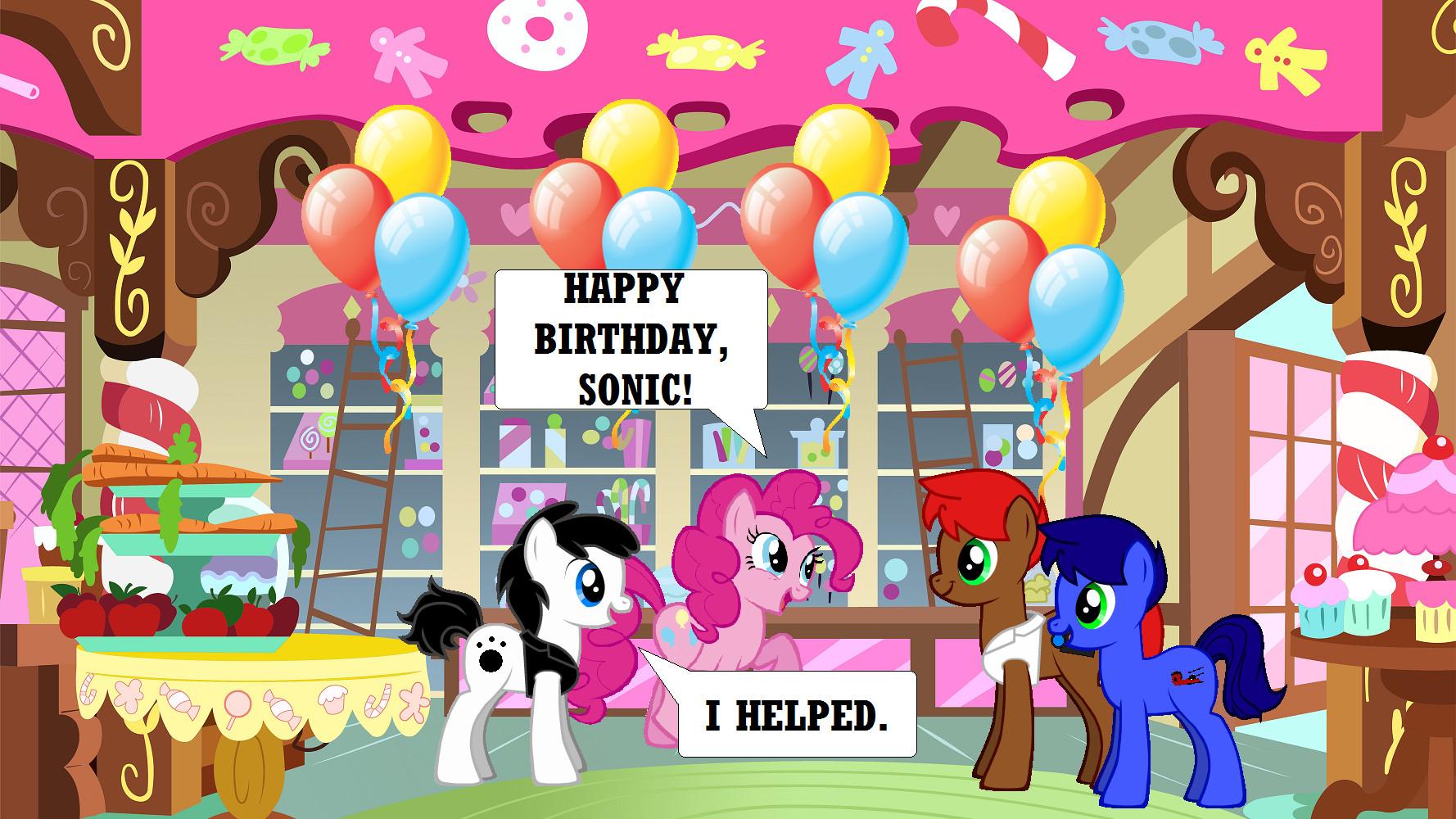 Happy Birthday Sonic The Hedgehog Pony Style By Eli J Brony